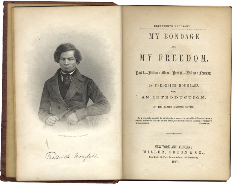 a review of fredrick douglass story my bondage my freedom The publication in 1845 of the narrative of the life of frederick douglass  but it also got a column-and-a-half front-page review  my bondage and my freedom.