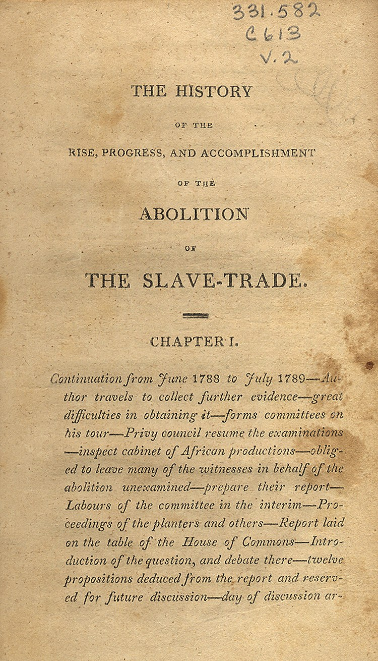 thesis statement on abolition of slavery Abolition movement essay include a thesis statement in which select either douglass or brown and explain why his actions were the best choice to end slavery.