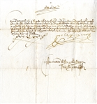 A Desirable Dual-Signed Order by King Ferdinand and Queen Isabella Known for their Institution of the Inquisition and their Sponsorship Of Christopher Columbus