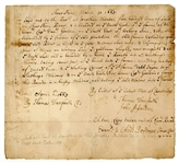Early Colonialists Land Deed with Great Harvard Association,  Recorded 1663 in Cambridge Massachusetts