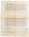 Rhode Island Indenture Signed By John Wanton
