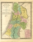 Very Displayable Palestine Map c1840's