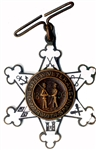 Scarce Hebrew Veterans  Badge