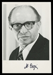 Signed photograph of Israeli Prime Minister Menachem Begin