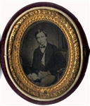 1861 Prince of Wales Albert Edward in Red Velvet Oval Case.