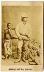 Scarce Image of Explorer Stanley and His Slave