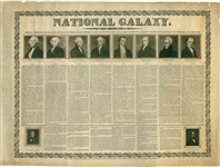 National Galaxy Featuring Engravings And Biographies Of America's First Ten Presidents