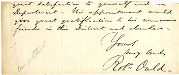 Partial Letter Signed By the Confederate Prisoner of War Agent