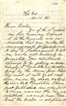 "Rare General Baxton Bragg Headquarters Department of Pensacola Letter-Marine Lt. Baker Has Deserted We ""Got Rid of Him Cheap."""