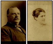 Large Panel Card Photographs Of The Clevelands In 1892