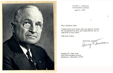 Truman Signed Items