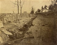 Confederate Dead in the Sunken Road at  Fredericksburg, Virginia