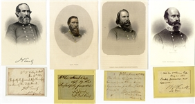 War-date Autographs of Generals Ewell, Longstreet, Hood and Early